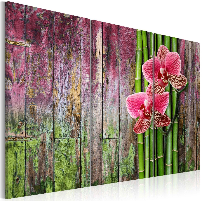 Obraz - kwiat i bambus