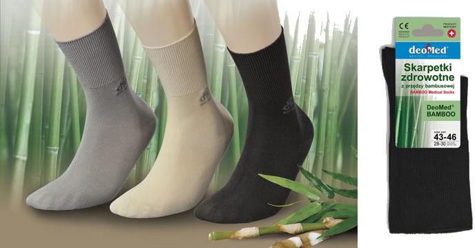 Bambusowe skarpetki BEZUCISKOWE - HYPOALERGICZNE DeoMed (bamboo)