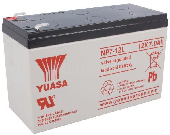 Akumulator kwasowo-ołowiowy YUASA 12V AGM 7Ah żywotność 3-5 lat