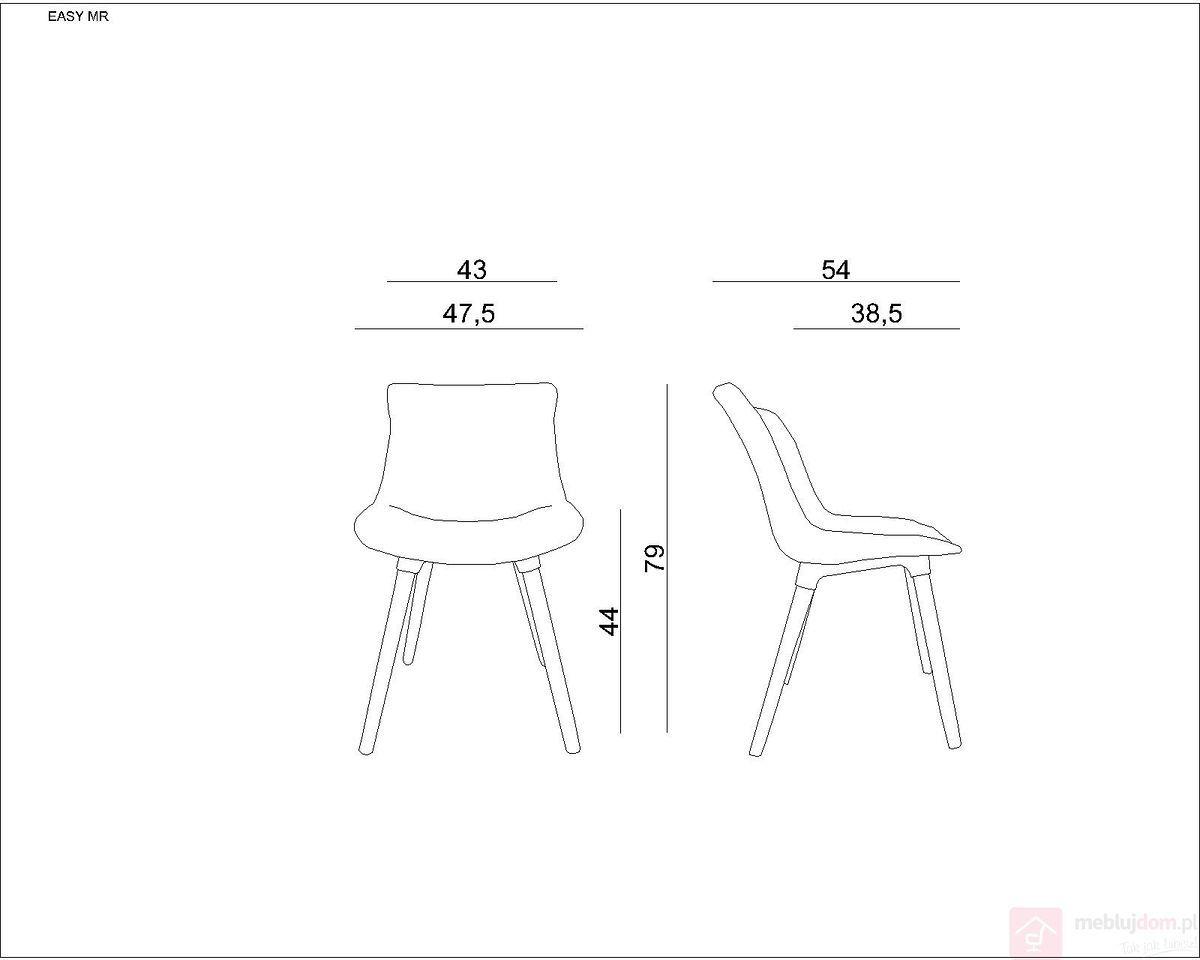 Krzesło tapicerowane EASY MR Unique Szary ciemny  RABAT na stronie!   [Wysyłka 2022-02-02]