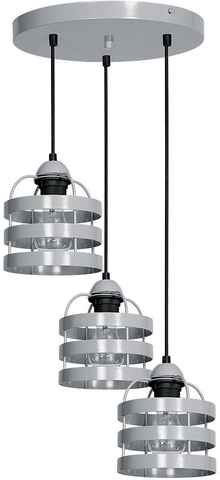 Milagro LARS GREY MLP787 lampa wisząca metalowa industrialna szary regulacja wysokości 3xE27 35cm