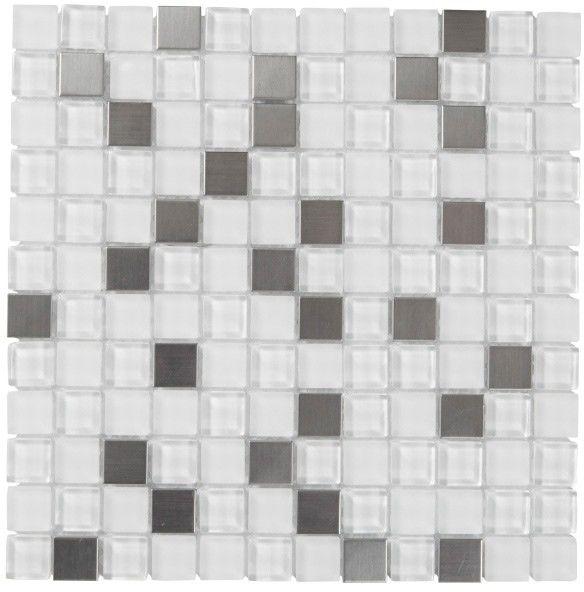 Mozaika Prate Colours 32 x 32 cm biała