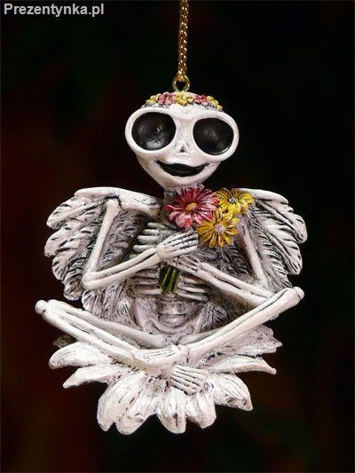 Breloczek szkielet z kwiatami Veronese
