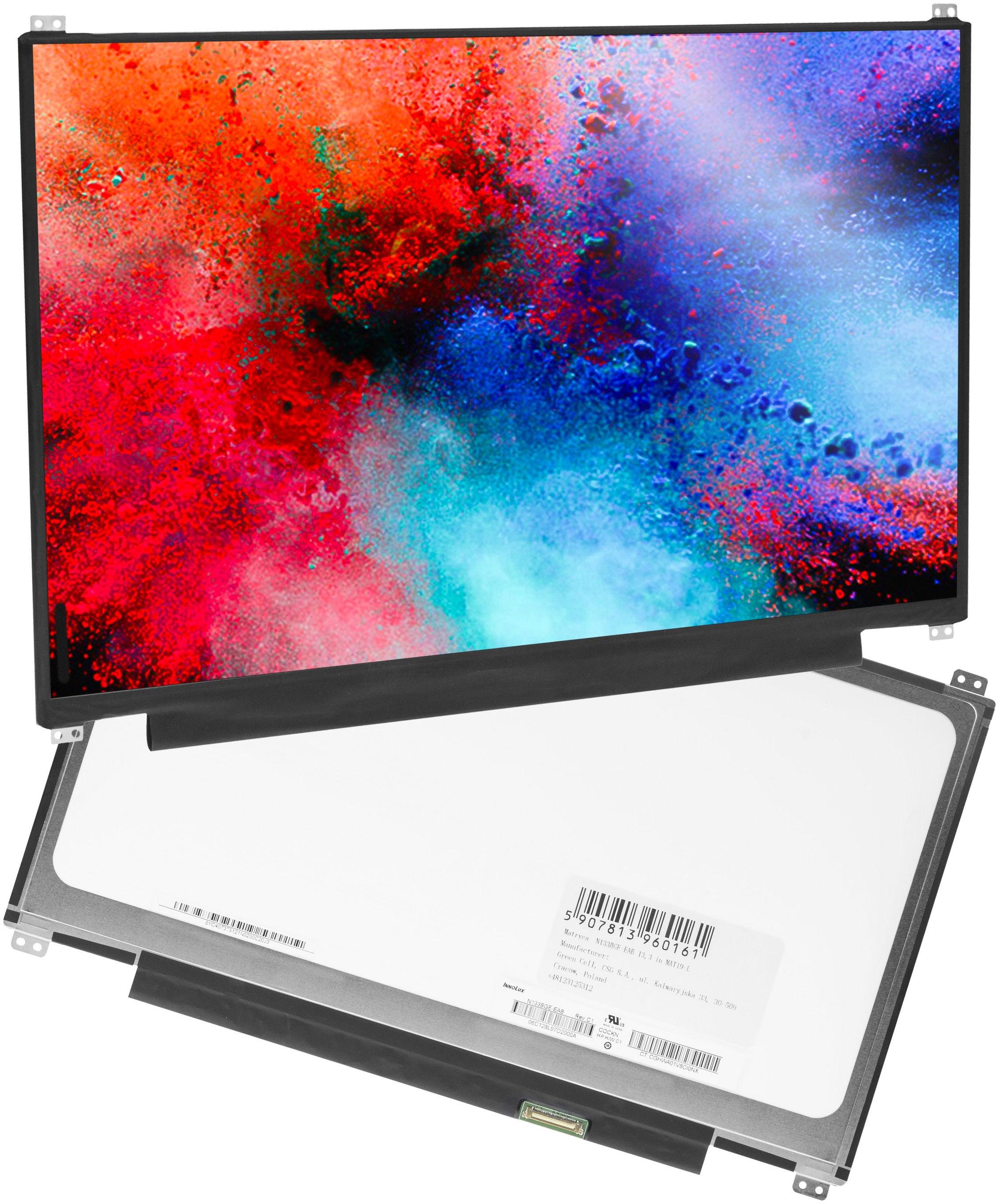 Matryca N133BGE-EAB do laptopów 13.3 cala, 1366x768 HD, eDP 30 pin, matowa
