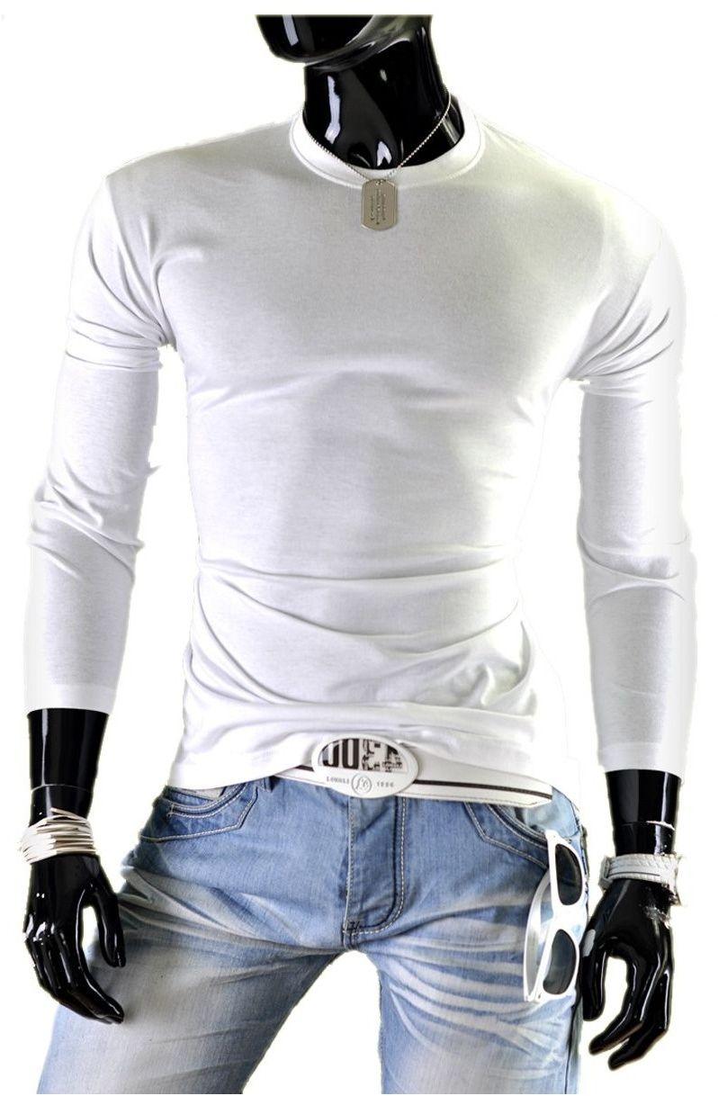 Bluza męska bez kaptura JL1 - biała