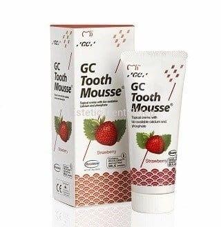 GC Tooth Mousse Truskawka - Płynne szkliwo bez fluoru o smaku truskawki. 35 ml.