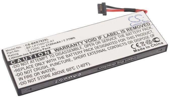 Becker Traffic Assist 7928 / BP-LP1100/12-A1 2100mAh 7.77Wh Li-Ion 3.7V (Cameron Sino)