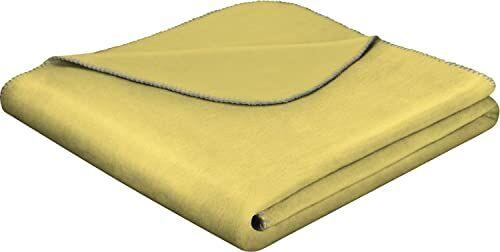 Biederlack narzuta, mieszanka bawełny, ochra, 150 x 200 cm
