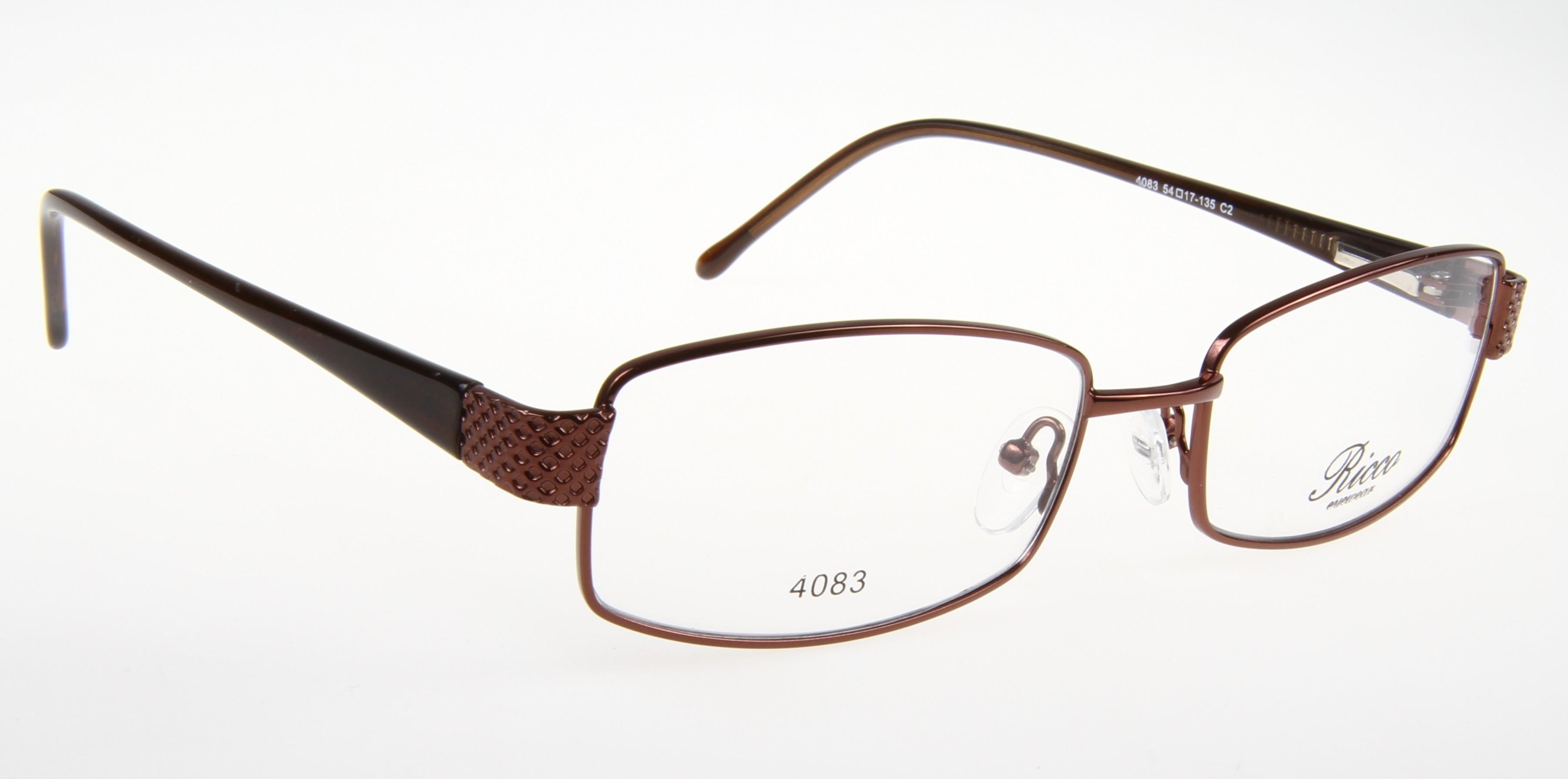Oprawki okularowe Ricco 4083 C2 - brązowe