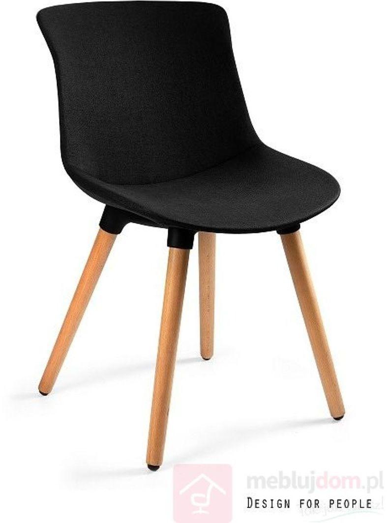 Krzesło tapicerowane EASY MR Unique Czarny  RABAT na stronie!   [Wysyłka 2022-02-02]