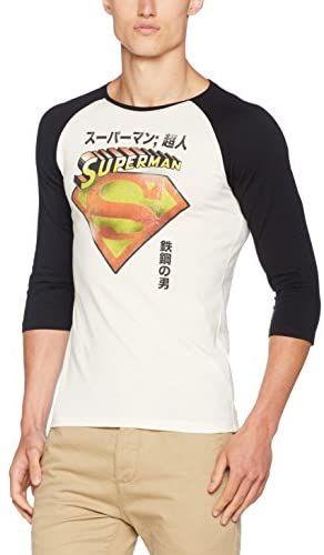 Superman Męska Superman  japoński Regular Fit top z długim rękawem biały (biały), M (rozmiar producenta: M)