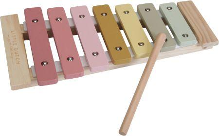 Cymbałki drewniane dla dzieci Róż Little Dutch