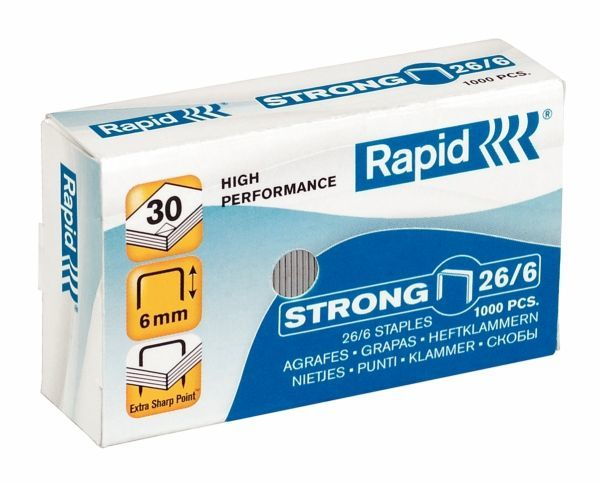 Zszywki RAPID STRONG 26/9 1000 szt. - X08289