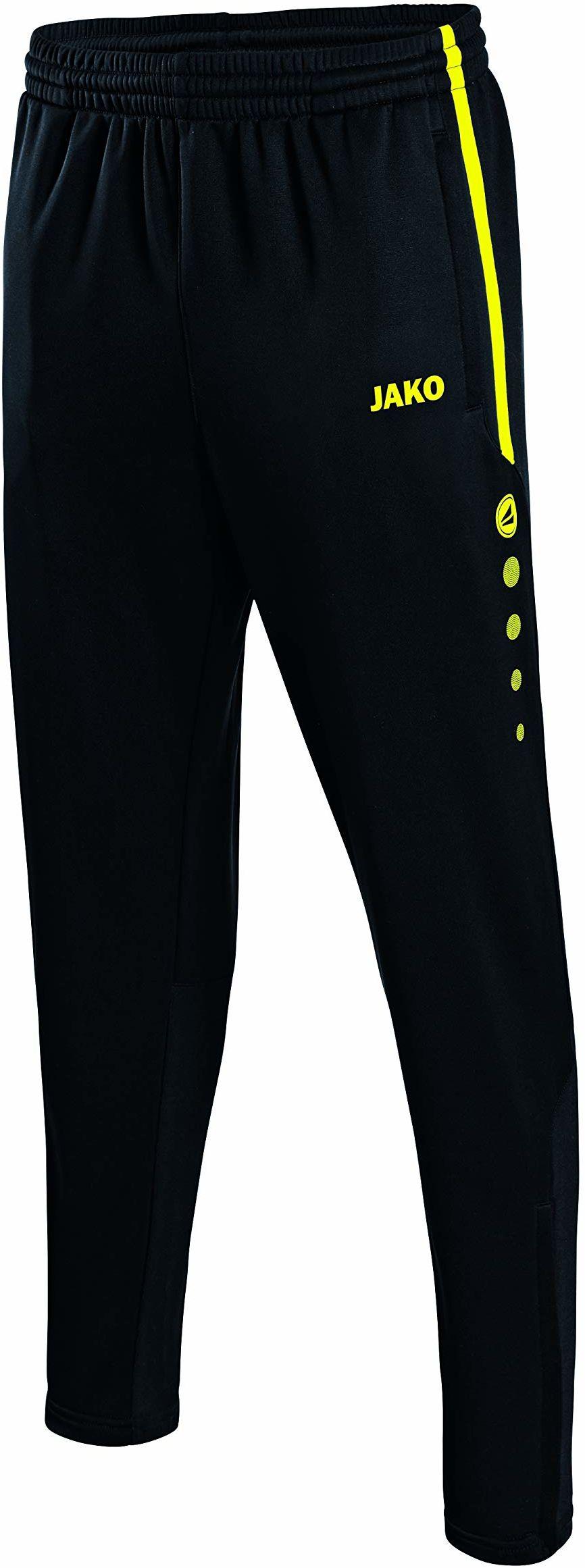 JAKO Męskie spodnie treningowe Active czarny/żółty neonowy M