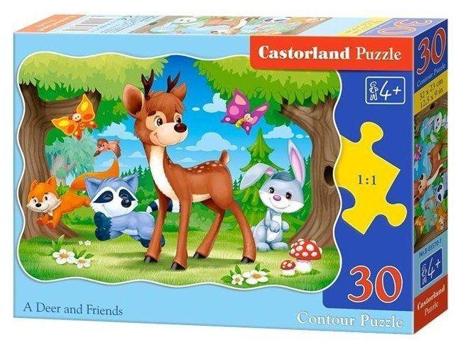 Puzzle 30 Jeleń i przyjaciele CASTOR - Castorland