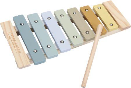 Cymbałki drewniane dla dzieci Błękit Little Dutch