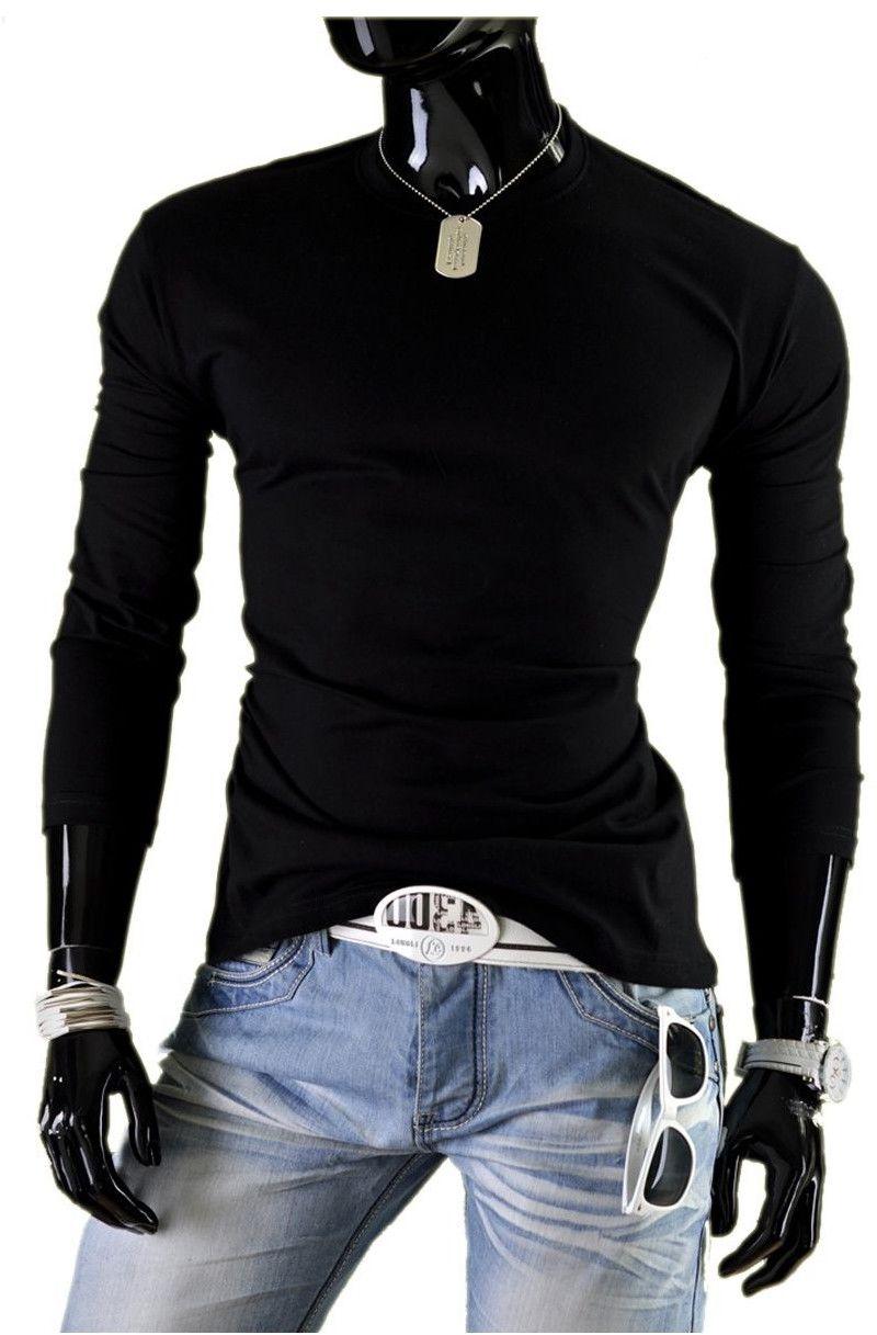 Bluza męska bez kaptura JL3 - czarna