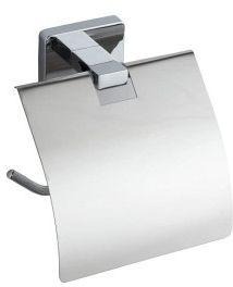 APOLLO uchwyt na papier toaletowy z pokrywą, chrom