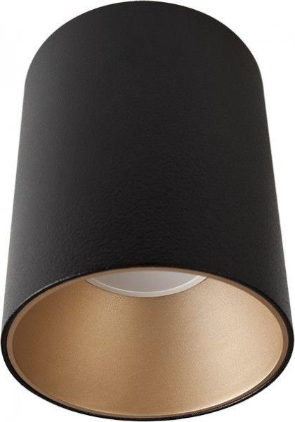 Tuba natynkowa czarno złota GU10 Eye Tone nowoczesna 8931 - Novodworski Do -17% rabatu w koszyku i darmowa dostawa od 299zł !