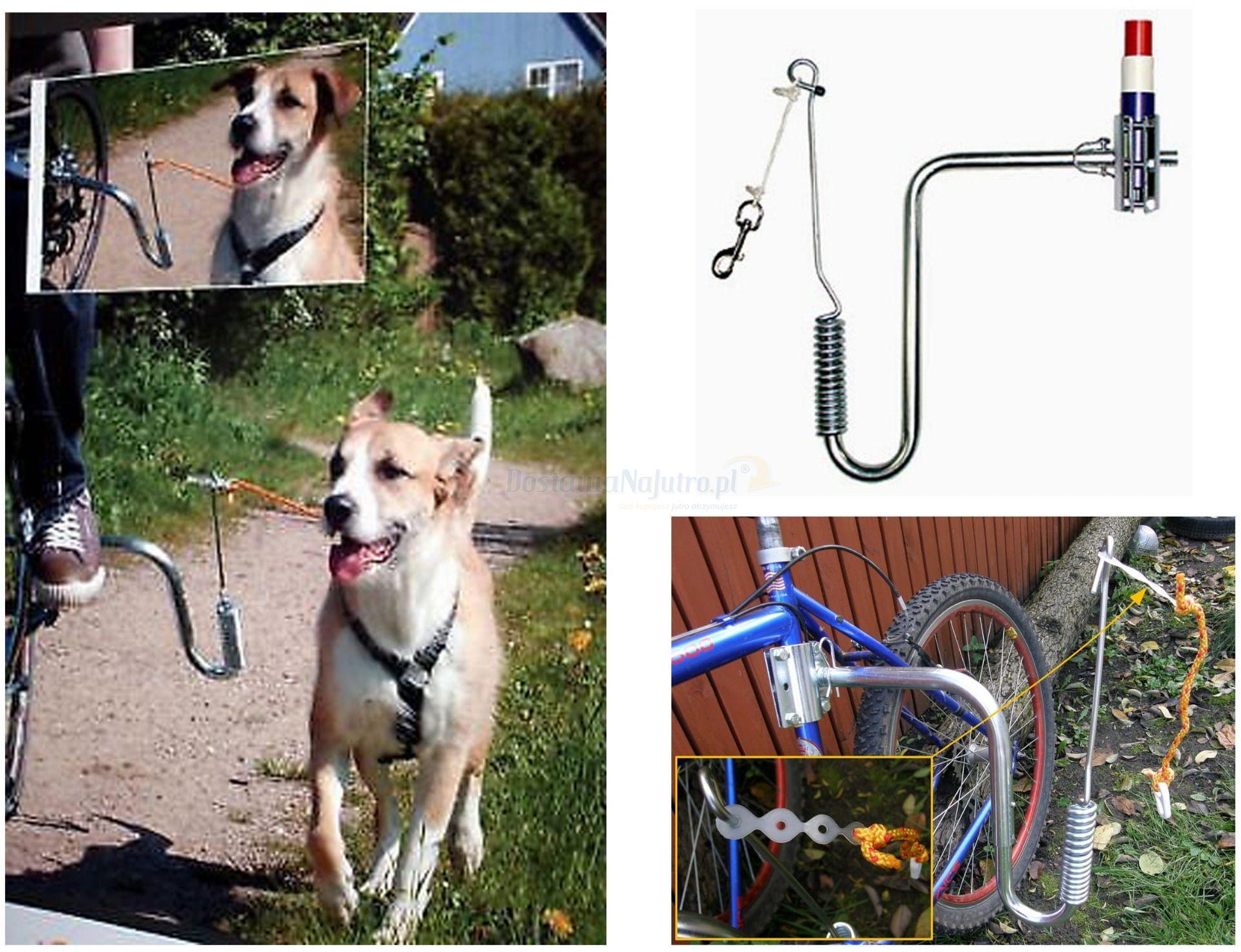 Smycz uchwyt springer do roweru dla psa