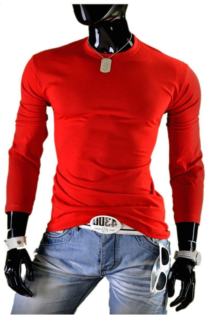 Bluza męska bez kaptura JL4 - czerwona