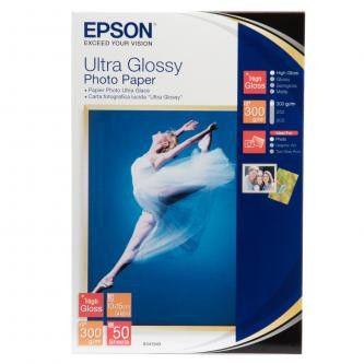 """Epson S041943 Ultra Glossy Photo Paper, papier fotograficzny, błyszczący, biały, 10x15cm, 4x6"""", 300 g/m2, 50 szt."""