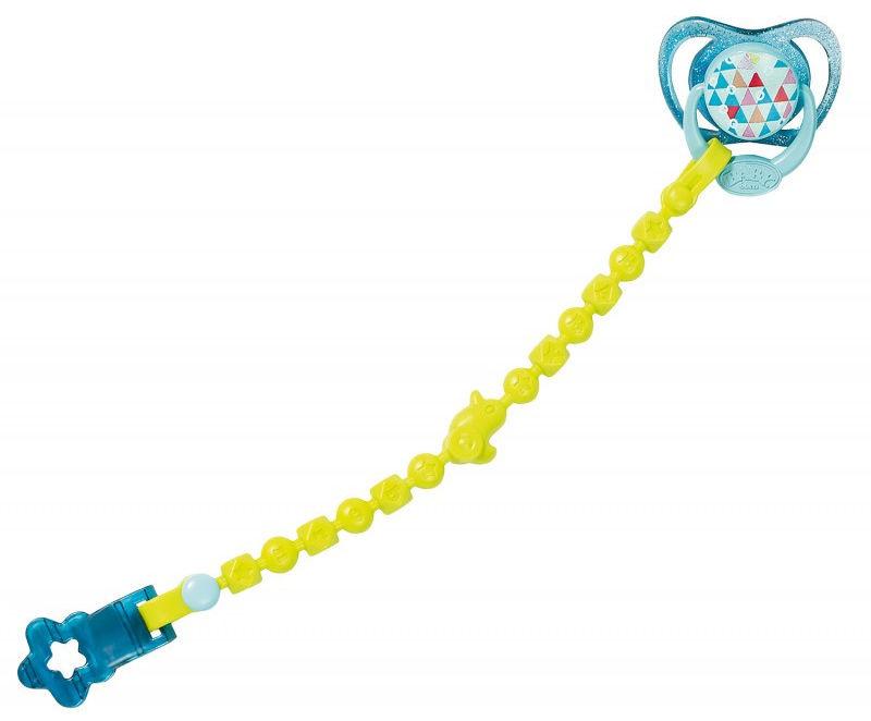 BABY Born - Smoczek z przypinką niebieski 824474
