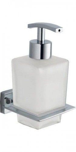 APOLLO dozownik mydła mleczne szkło chrom 80 x 156 x 101 mm