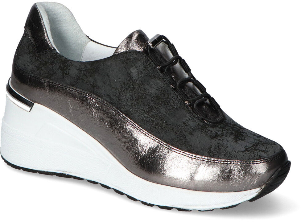 Sneakersy Venezia 4074-7001 SIL-GR Srebrne/Szare lico+zamsz