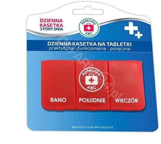 Apteczka ABC kasetka na tabletki dzienna 3 pory dnia