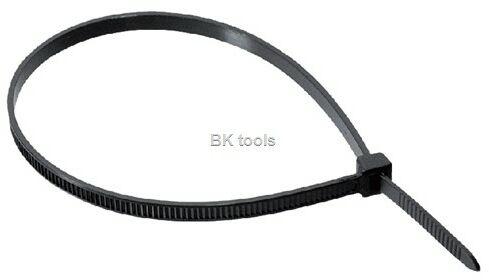 Opaska zaciskowa trytka opaska kablowa 370x7,6 mm UV czarna