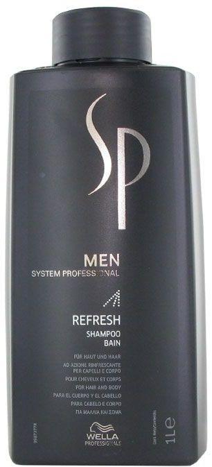 SP Men Refresh - odświeżający szampon do włosów i ciała 1000ml