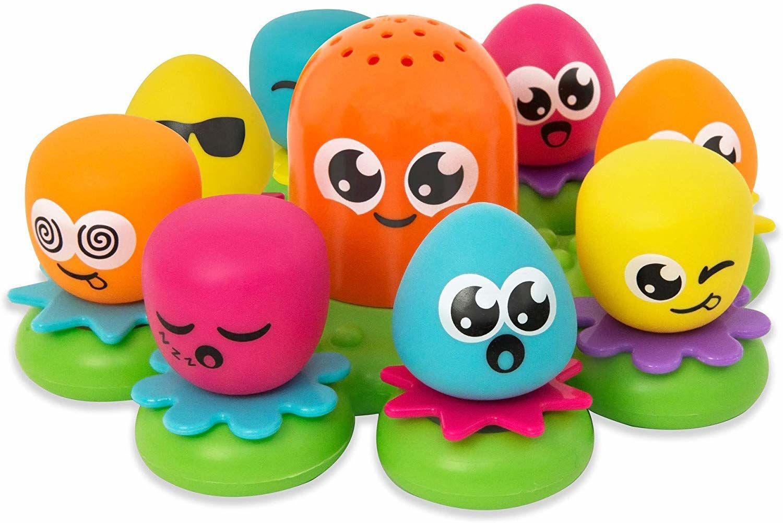 Tomy Toomies E2756 Octopals Wodna Zabawka Edukacyjna dla Dzieci, Wielokolorowa