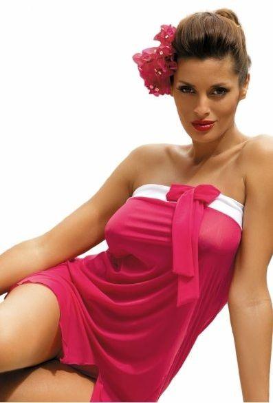 Tunika plażowa marko mia fresia m-241 różowa (312)