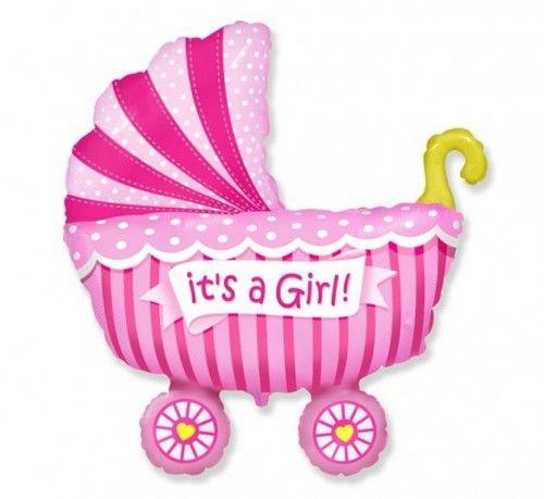 Balon foliowy FX Wózek dziecięcy dla dziewczynki