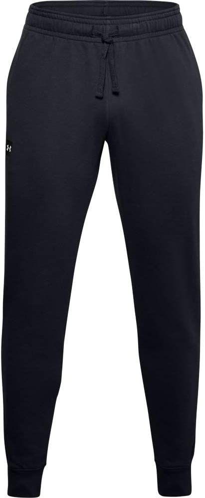 Under Armour Męskie spodnie dresowe Rival Fleece Joggers (Black/Onyx White) L