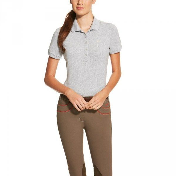 Koszulka PRIX POLO damska - Ariat - heather grey