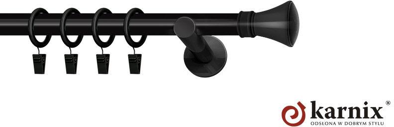 Karnisze nowoczesne NEO pojedynczy 19mm Liberty czarny