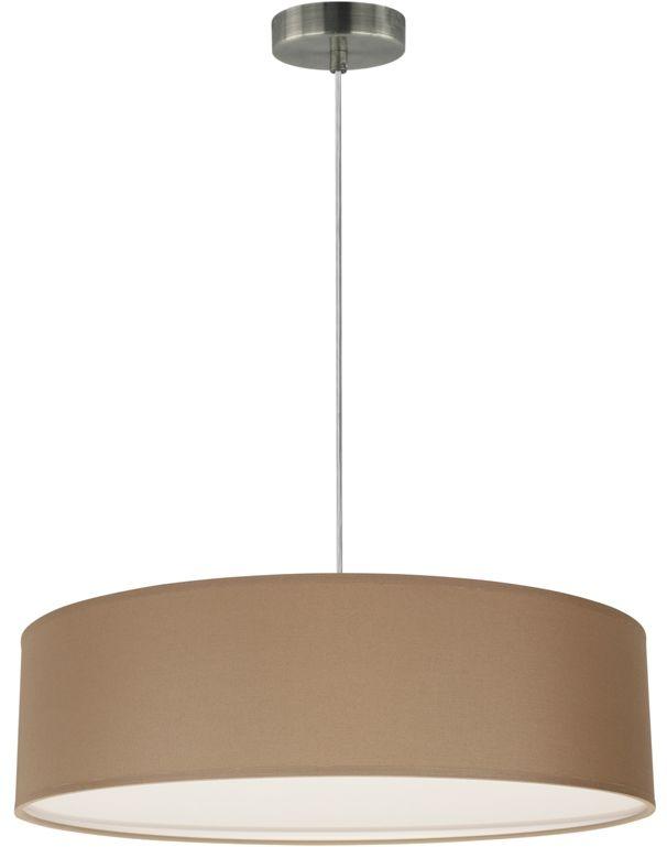 Spot Light 57950127 Josefina lampa wisząca abażur tkanina satyna brązowa transparentny 3xE27 25W 50cm