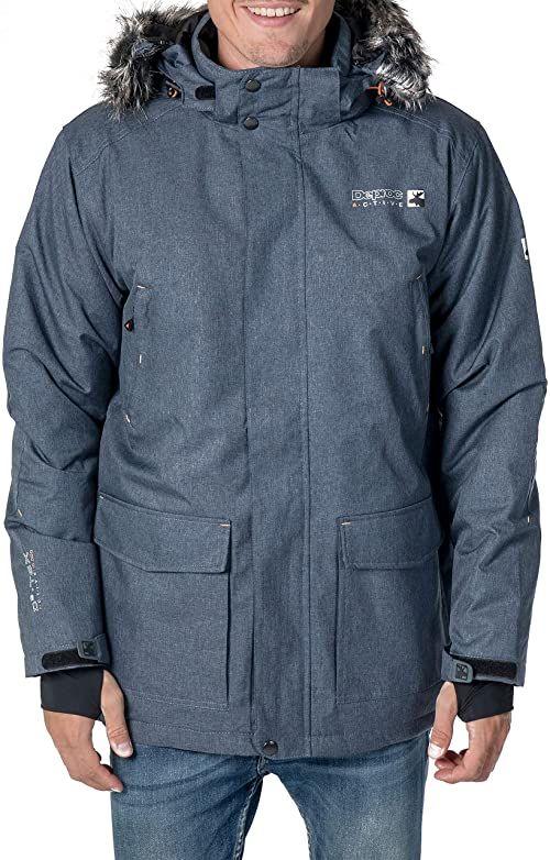 Deproc Active kurtka męska Urban Outdoor Parka DAWSON niebieski grantowy 3XL