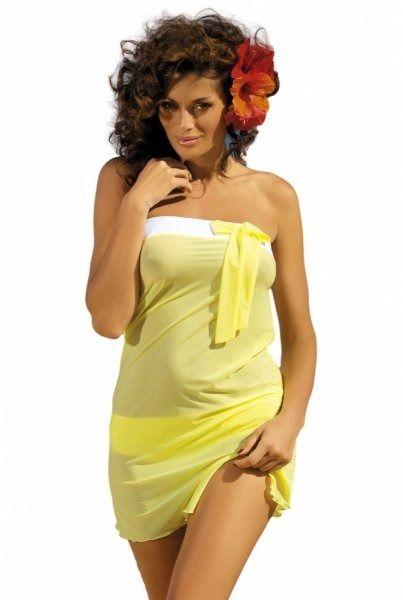 Tunika plażowa marko mia lime m-241 żółta (311)