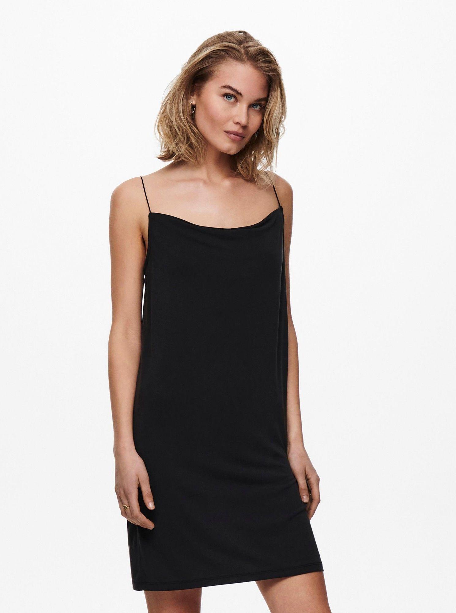 Only czarna sukienka letnia Free