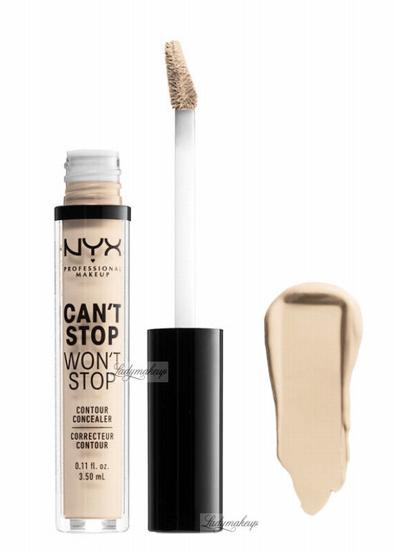 NYX Professional Makeup - CAN''T STOP WON''T STOP- CONCEALER - Korektor w płynie - VANILLA