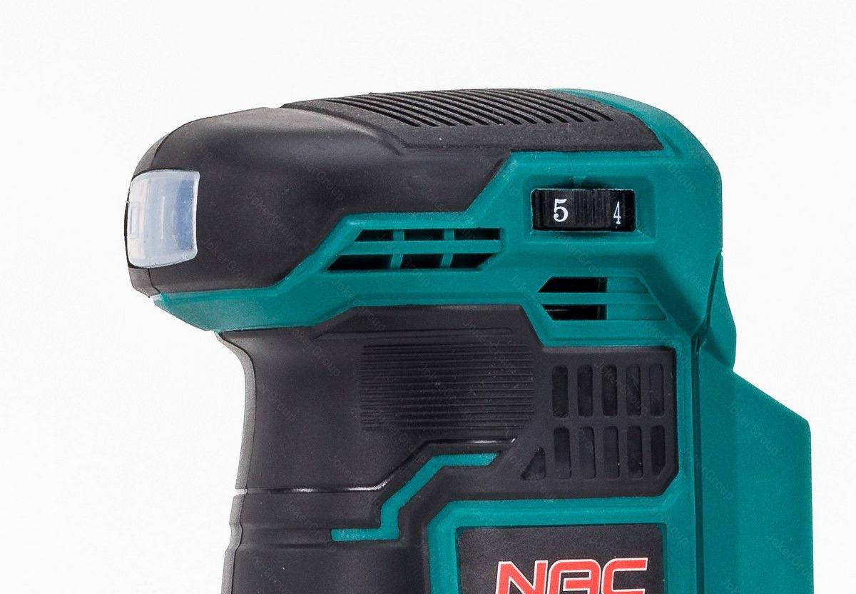 Szlifierka mimośrodowa akumulatorowa NAC OS-125-LI-20V z ładowarką i akumulatorem