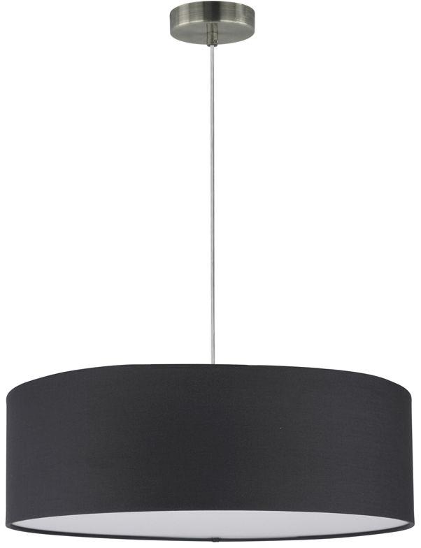 Spot Light 57850127 Josefina lampa wisząca abażur tkanina satyna antracyt transparentny 3xE27 25W 50cm
