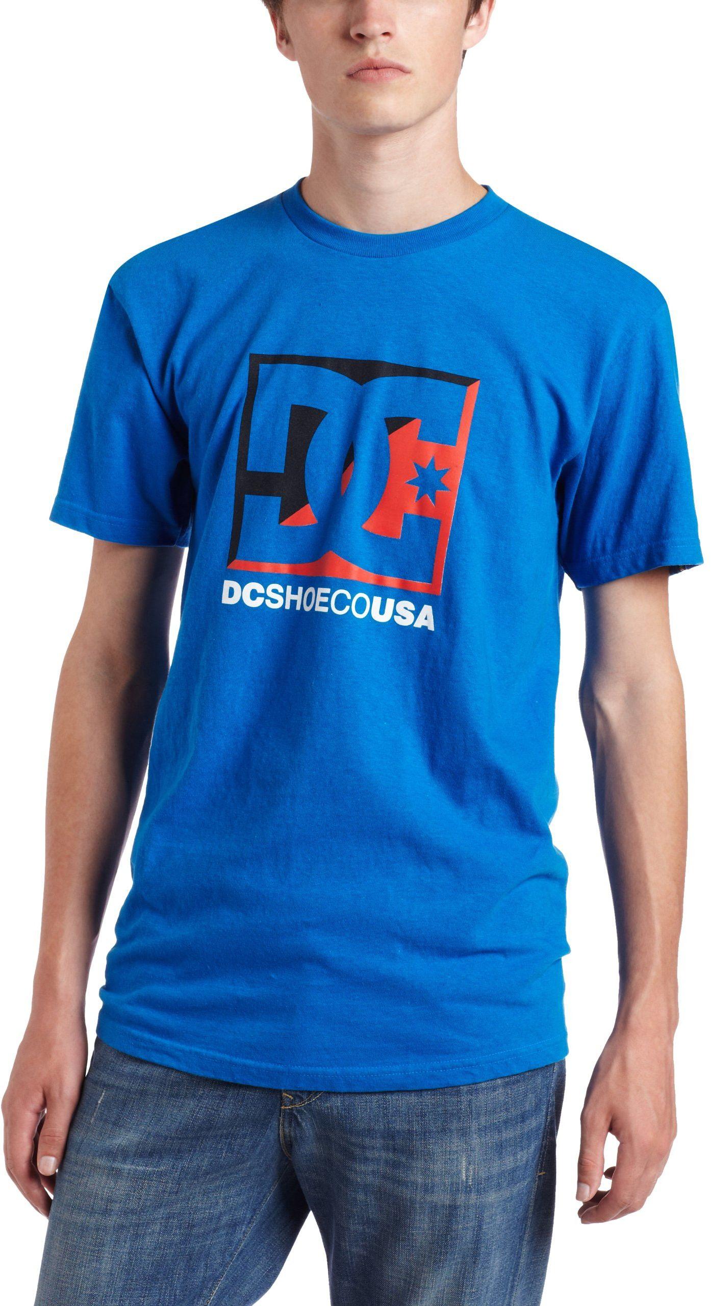 DC Buty męski T-shirt Cross Standard - niebieski, M