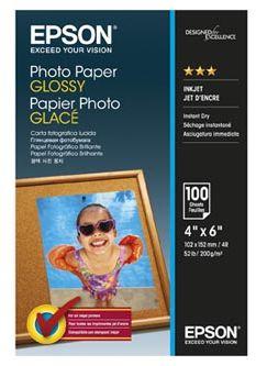 """Epson S042548 Photo Paper, papier fotograficzny, błyszczący, biały, 10x15cm, 4x6"""", 200 g/m2, 100 szt."""