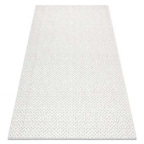 Dywan SPRING 20467558 Jodełka, chevron sznurkowy, pętelkowy - beż 80x150 cm