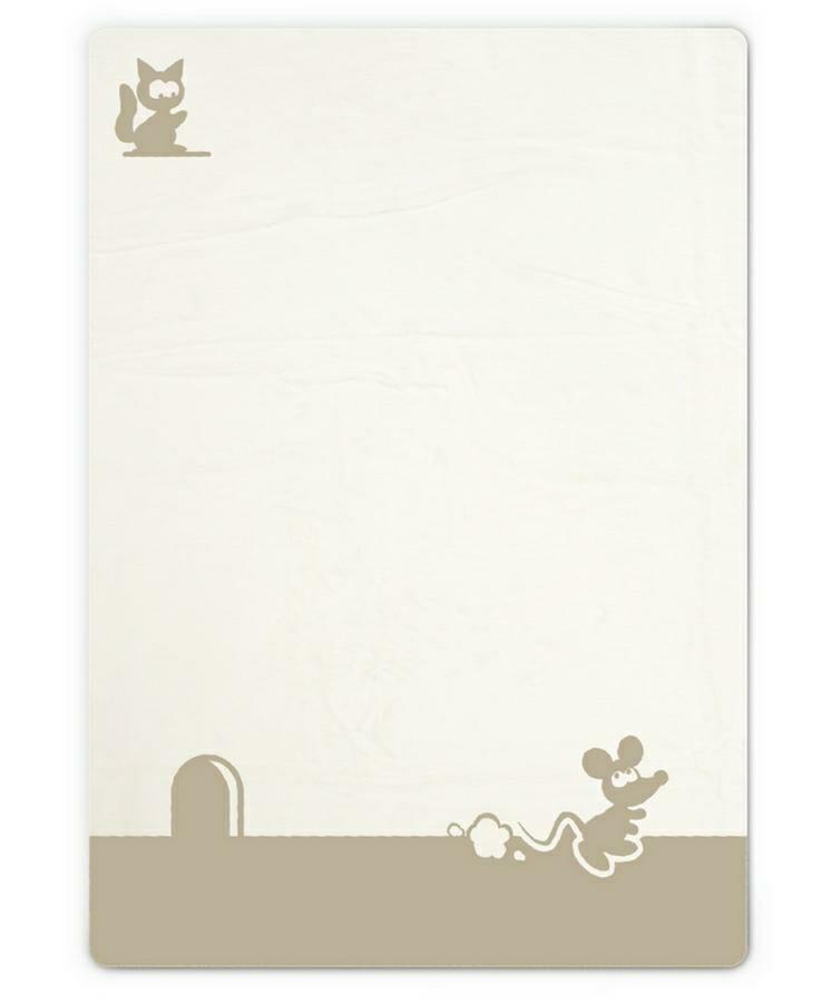 Kocyk dziecięcy 75x100 Miky myszka kremowy beżowy M-16 bawełniany niemowlęcy