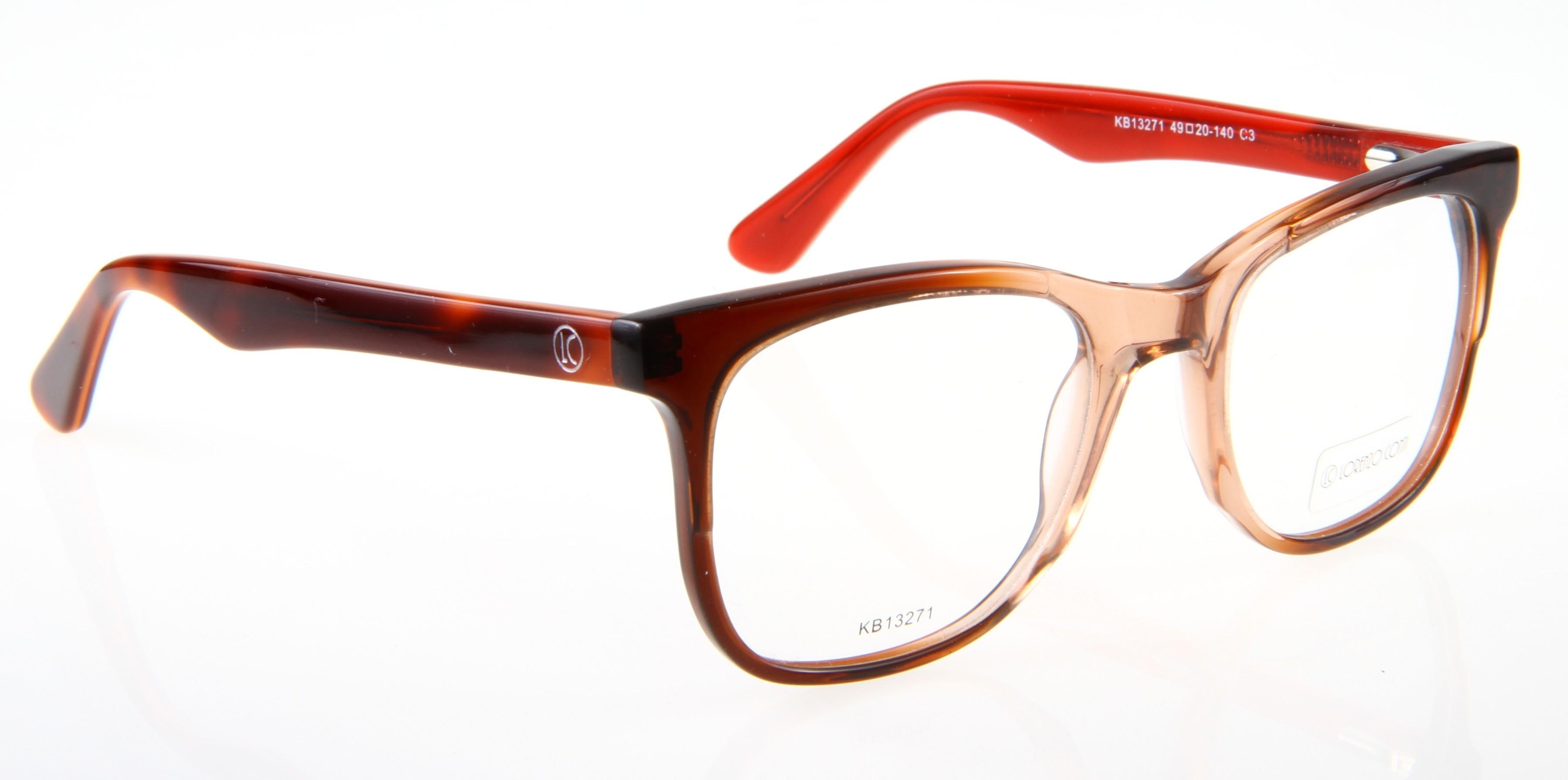 Oprawki okularowe Lorenzo KB13271 c3 brązowo-czerwona